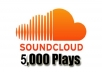 provide you 5,000 SoundCloud plays High Quality