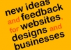 give 10 ideas about business, design or website