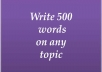 write an article of 500 word for given subject