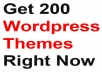 Give You 200 Wordpress Themes