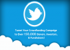 tweet your fundraising campaign to over 150,000 donors and investors