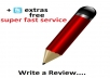 write impressive reviews for your business/product/service