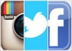 provide 1000 Permanent Followers or Likes On INSTAGRAM Or Facebook Twitter