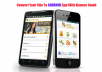 Convert your site to cool android app with admob