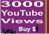Get Fast 3000 High Retention YouTube Views within 24 hours