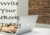 CREATE OR EDIT YOUR EBOOK OR SHORT STORY ON ANY TOPIC UP TO 5000 WORDS