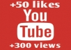 give you 50+ like and 300+ ITALIAN views on your youtube video