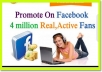 promote your website on my 4,800 personal friend Facebook