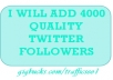 Add 3000+ Quality Twitter Followers