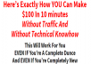 Show you how you can exactly make 100usd in 10mins without traffic