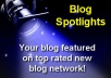 feature your BLOG on our blog network