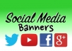 make an amazing social banner for you