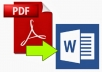 Convert PDF file in Any format