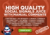 Make Social Signals with Free Manual comments, Exclusive Gigs