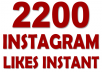 PERMANENT 2200 Real lnstagram Likes INSTANT