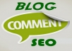 do blog comment on high PR sites