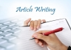 write High Quality articles, $0.6/100 words