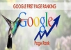 bring your website 1st page rank in google search
