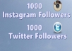 add HQ 1000 Instagram or Twitter followers