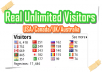 give you real 300 unique usa/canada traffic for your new blog
