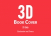 create 3D ebook cover within 36 hours
