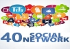 post anything MANUAL to  40 social media marketing services for
