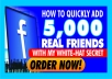 teach you how to get 5000 active facebook friends quickly