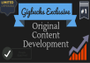 develop original content for your website or blog