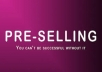 help you Pre Sell your report with my sales letter templates