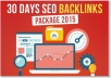 do 30 days SEO backlinks service