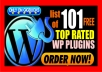 give you a list of 101 top rated FREE wordpress plugins