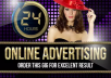 advertise  your website in 24 hours