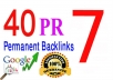 manually Create 40 high Pr 7 Permanent Dofollow Backlinks