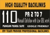do 110 high pr 2 to 7 manuall dofollow backlinks just 5$