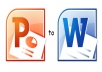 type PPT presentations into docx format ASAP