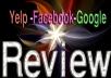 write and post Permanent Yelp Google Facebook Review