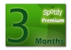 spotify account 3 months Premium