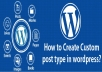 create wordpress website ,customize and fix errors