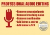 professionally edit audio for podcast