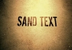 create this SAND text animation within 24 hours