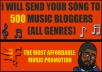 send your song to 500 music bloggers