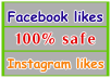 provide 1000+ Facebook Likes or 4000 Instagram likes/followers To make you famous on social media