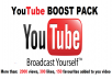 give you YOUTUBE BOOST PACK including more than 2000 views + 300 likes + 150 video favourites