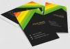 design professional and outstanding business card