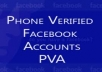 create 5 PVA facebok accounts