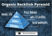 press Release Pyramid with high pr backlinks