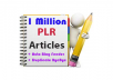 Give you over 1 MILLION + PLR Articles in 2000 Niches + Auto Blog Feeder + Duplicate ByeBye
