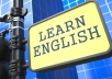 teach you English via Skype using an accelerated method