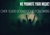 repost your track to over 15,000 soundcloud followers