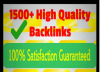 create 1700 Google Loving SEO Backlinks